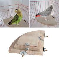 Holz Haustier Papagei Plattform Stand Rack Holz Spielzeug Zweig Sitzstangen