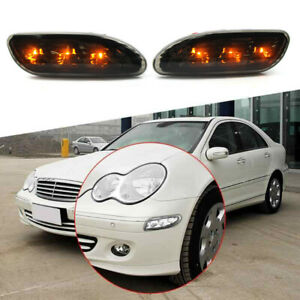 For Mercedes Benz W203 2001-2007 Front Bumper Side Marker Light Turn Signal Lamp