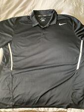 Nike Golf/Tennis Dri-Fit Black Golf Polo Shirt Mens 2XL XXL