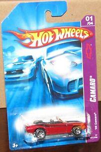 Hot Wheels 2007 Camaro Series #41 '69 CAMARO Red Convertible