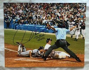 "Sid Bream Signed 8x10 Photo ""The Slide"" NLCS Atlanta Braves w/ Inscription"