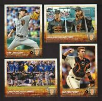 2015 Topps SAN FRANCISCO GIANTS Team Set w/ Updates 45 Cards