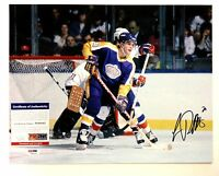 LUC ROBITAILLE SIGNED LOS ANGELES KINGS 11x14 PHOTO PSA/DNA W94042