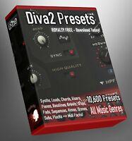 10.600 Diva2 Presets Banks Collection Cubase FL Studio Ableton EDM Trap Hip Hop