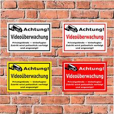 Schild Achtung Videoüberwachung - Privatgelände - in 4 Größen - S00348-007