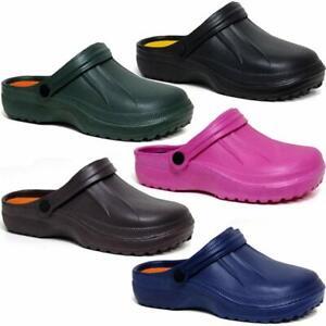 Mens Ladies Garden Mules Nursing Beach Sandals Hospital Rubber Pool Shoes