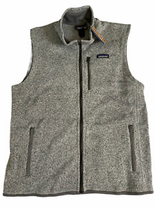 NWT New Patagonia Men M Medium Better Sweater Vest Stonewash Grey Fleece