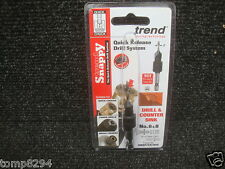 """TREND SNAPPY TCT DRILL COUNTERSINK WITH 1/4"""" HEX SHANK SNAP/CS/8TC 6 & 8"""