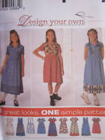 Simplicity SEWING Pattern 7561 Girls EASY Dress Design Your Own OOP SEW FF UNCUT