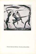 Tanz mit schwarzem Schleier Kunstdruck 1926 Georg Gelbke Rochlitz Schleiertanz