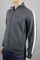 Ralph Lauren Medium M Grey Full Zip Sweatshirt Track Jacket Blue Pony NWT