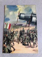 T) Postcard Military Large Format Grenadiers of Sardinia Albania 2gm WWII