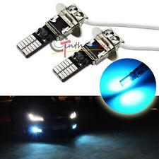 2PCS 10000K Ice Blue 24-SMD High Power H3 LED Bulbs For Fog Lights Driving Lamps
