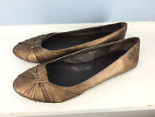 Born Brown Broze Ballet Flats 9 Leather Career Casual Cute Comfort