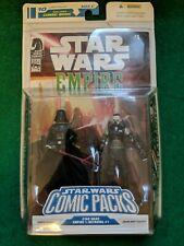 STAR WARS COMIC PACKS - Darth Vader Grand Moff Trachta 2 pack figure 2008 NM