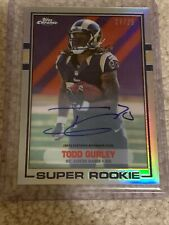 TODD GURLEY TOPPS CHROME 1989 SUPER ROOKIE AUTO REFRACTOR 18/25 FALCONS