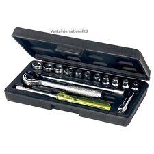 New 17Pce Socket Set Spinner Ratchet Handle Extension Bar Mechanic Workshop DIY