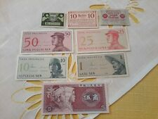 14 Stk Notgeld- und Papiergeld Welt! Erhaltung I (UNC)