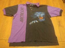 Arctic Cat Vintage 1990's Racing Snowmobile Large polo shirt rare purple