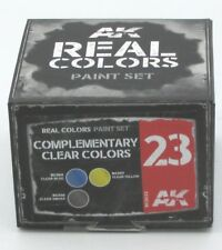 AK Interactive RCS023 Complementary Clear Colors (Real Colors Paint Set) Laquer