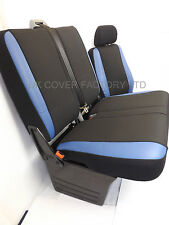 PEUGEOT BOXER VAN SEAT COVERS MADE TO MEASURE BLUE SPORTS TRIM P50BLU