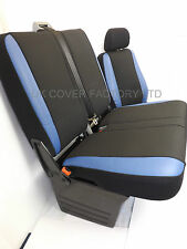 VW TRANSPORTER T5 VAN SEAT COVER  BLUE LEATHER SPORTS TRIM  P50BU IN STOCK!!!