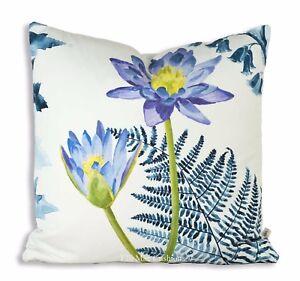 Designers Guild Mokuren Luxury Designer Fabric Indigo Pink Cushion Throw Cover
