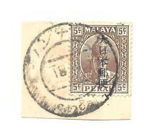 Burma J.O.  Perak with Kanji opt used in Burma on piece Nawnghkio 18.3.19