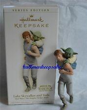 2006 HALLMARK ORNAMENT STAR WARS LUKE SKYWALKER AND YODA THE EMPIRE STRIKES BACK