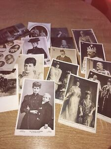 Royalty. Edward7. And Alexandria. Some real photos.  Early cards x 17