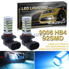2x 92SMD 9006 Ice Blue 8000K DRL Fog Driving Light LED Projector Bulb High Power