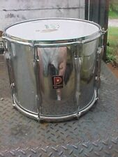 """PREMIER 12""""X14"""" MARCHING STYLE TOM DRUM, CHROME PLATED STEEL SHELL"""