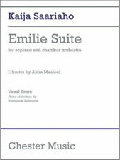 Saariaho Kaija Emilie Suite Soprano Vocal Score, New, Various Book