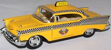 1957 Chevy Bel Air Taxi Kinsmart Model yellow cab car 1:40 toy