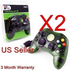 2 Lot Green Controller Control Pad For Original Microsoft Xbox X Box 2Z