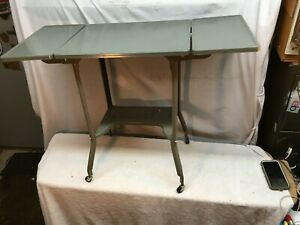 VTG Mid Century Modern  Drop Leaf Typewriter Stand Table