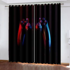 Teens Gaming Window Curtain Gamer Gift for Boys Window Treatments 2 Panels