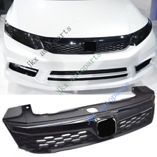 Black Modified Honeycomb Sport Middle Grille k Grill For Honda CIVIC 2012-13