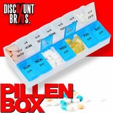 NEU █ Tablettenbox PILLENBOX Wochenbox 7 Tage 2 Fächer Medikamentenorganizer EN