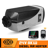 WARMTOO 24V 8KW Diesel Air Heater LCD Thermostat For Trucks avans Bus