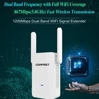 2.4G/5G 1200 Mbps WiFi répéteur amplificateur d'extension sans fil Gigabit