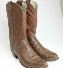Olathe Tall 7307 Cowboy Boots Brown Size 9.5B