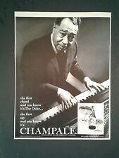 1967 Duke Ellington Music Memorabilia Records Champale Malt Liquor Photo Art Ad