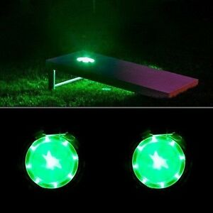 Cornhole Light Corn Hole Lantern Board Night Light Set- GREEN
