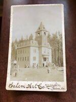 Cabinet Card Photo Of Polytechnic Institute College Salem Oregon Vintage 1893