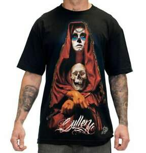 Sullen Art Collective Acuna Badge Mens T-Shirt Skeleton MMA UFC Tattoo Clothing