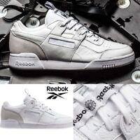 99b9e3b92205 Reebok Classic Workout Plus IT Shoes Sneakers White Grey BS6214 SZ 4-12.5