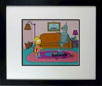 Bart Simpson Cel hand painted Signed Voice Bart Nancy Cartwright Beckett Fox