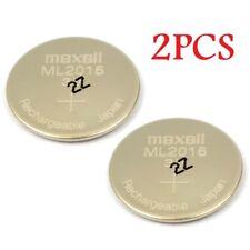 NEW 2pcs Original 3V Maxell ML2016 ML 2016 Rechargeable Lithium CMOS RTC Battery