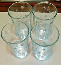 New listing New Vintage Martha Stewart Woodland Twinkle Stars Set Of 4 Glasses Old Stock